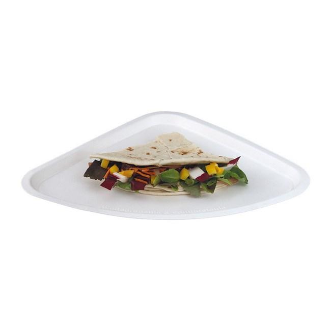 Vassoio pizza triangolare biodegradabile e compostabile for Vassoi assorbenti