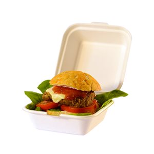 Contenitore hamburger con coperchio biodegradabile 450ml